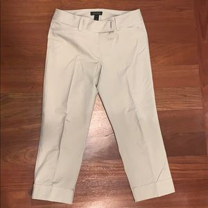 WHBM slim crop pants